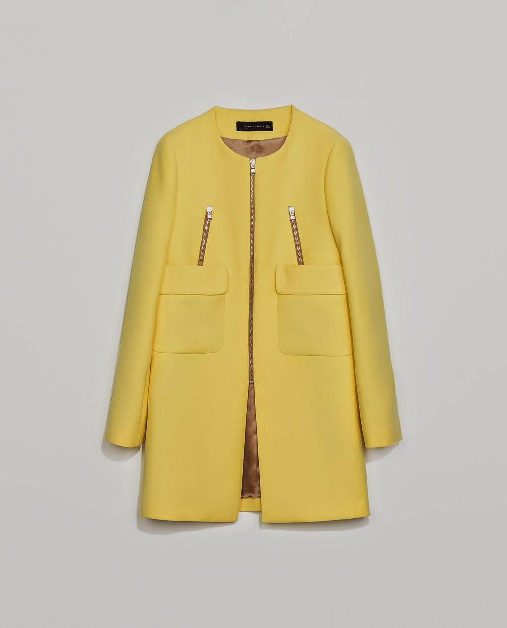 Yellow coat from Zara