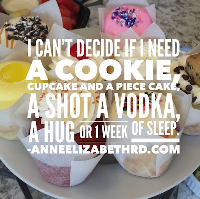 Thoughts on Daylight Savings Time: I Don't Know If I need a Cookie, Cupcake and a Piece of Cake, a Shot of Vodka, a Hug or 1 Week of Sleep.