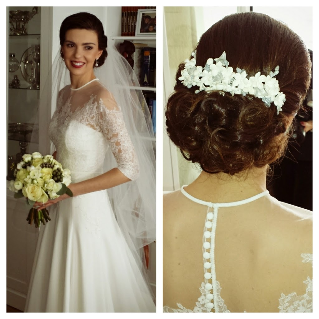 Maquilladores y estilistas de novias madrid elche y for Recogidos altos para novias