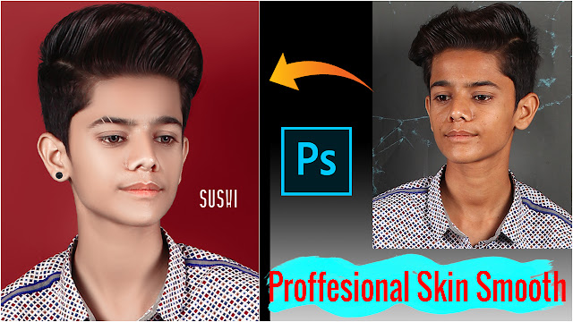 Advance Photo Editing Skin Retouching in Photoshop | Stylish Boy Face Smooth With Mixture Brush Tool