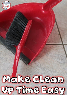 After STEM class clean is easy because of something we started doing a long time ago! Check this blog post for some clean up tips!