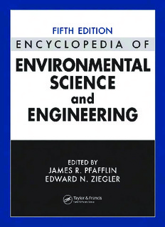 Encyclopedia of Environmental Science and Engineering PDF Book By James R. Pfafflin