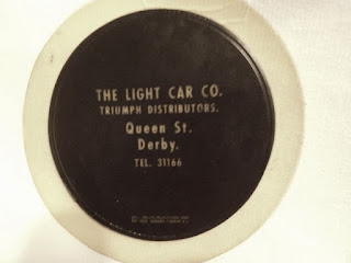 Light Car Co tax disc holder