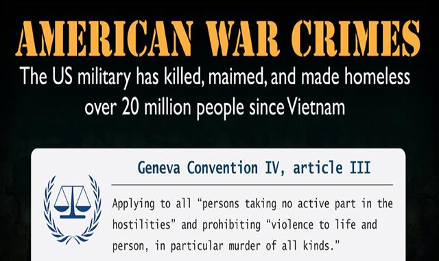 American War Crimes #infographic