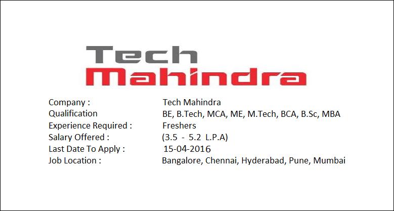Tech Mahindra Hiring Freshers Salary Package 3 5 5 2 L Pa Freshers Jobs