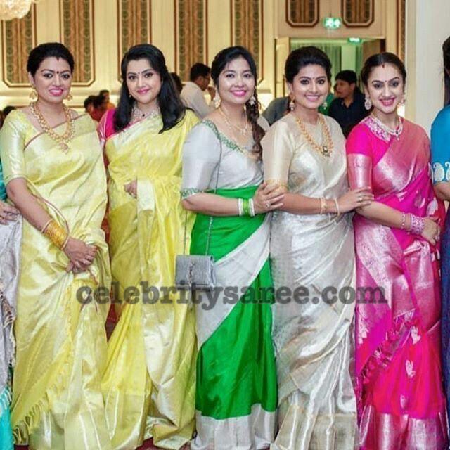 Celebrities in Soft Silk Sarees