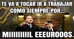 Niños San Ildefonso dando premio mil euros por trabajar