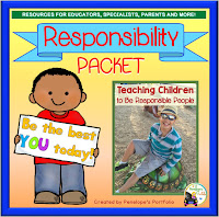 Responsibility Character Education - Social Skills Teaching Packet