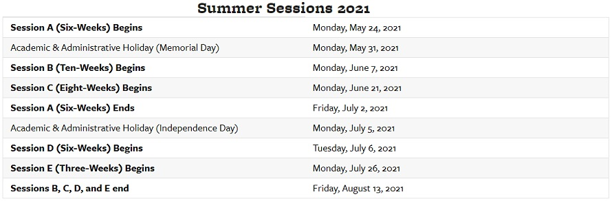 Berkeley Summer Sessions 2021