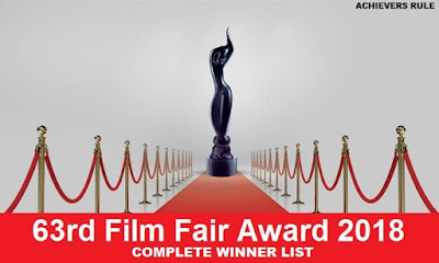 63rd Film Fair Award 2018