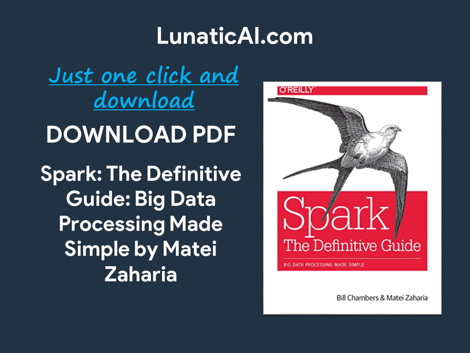 spark: the definitive guide: big data processing made simple pdf download