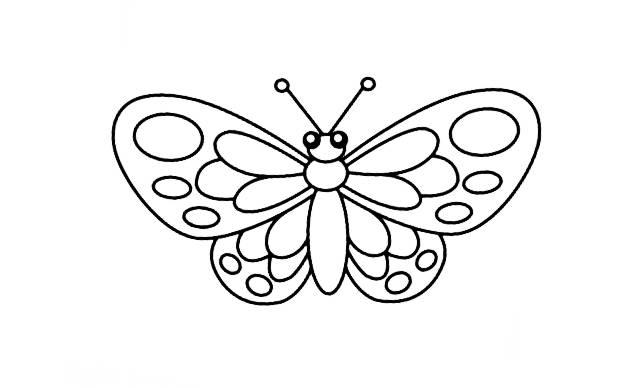 como dibujar mariposas faciles paso a paso