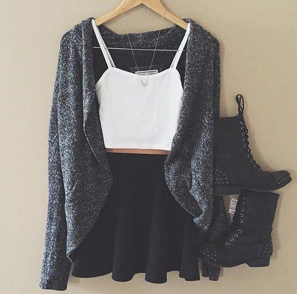 Fashion para meninas: Inspiração - Look tumblr
