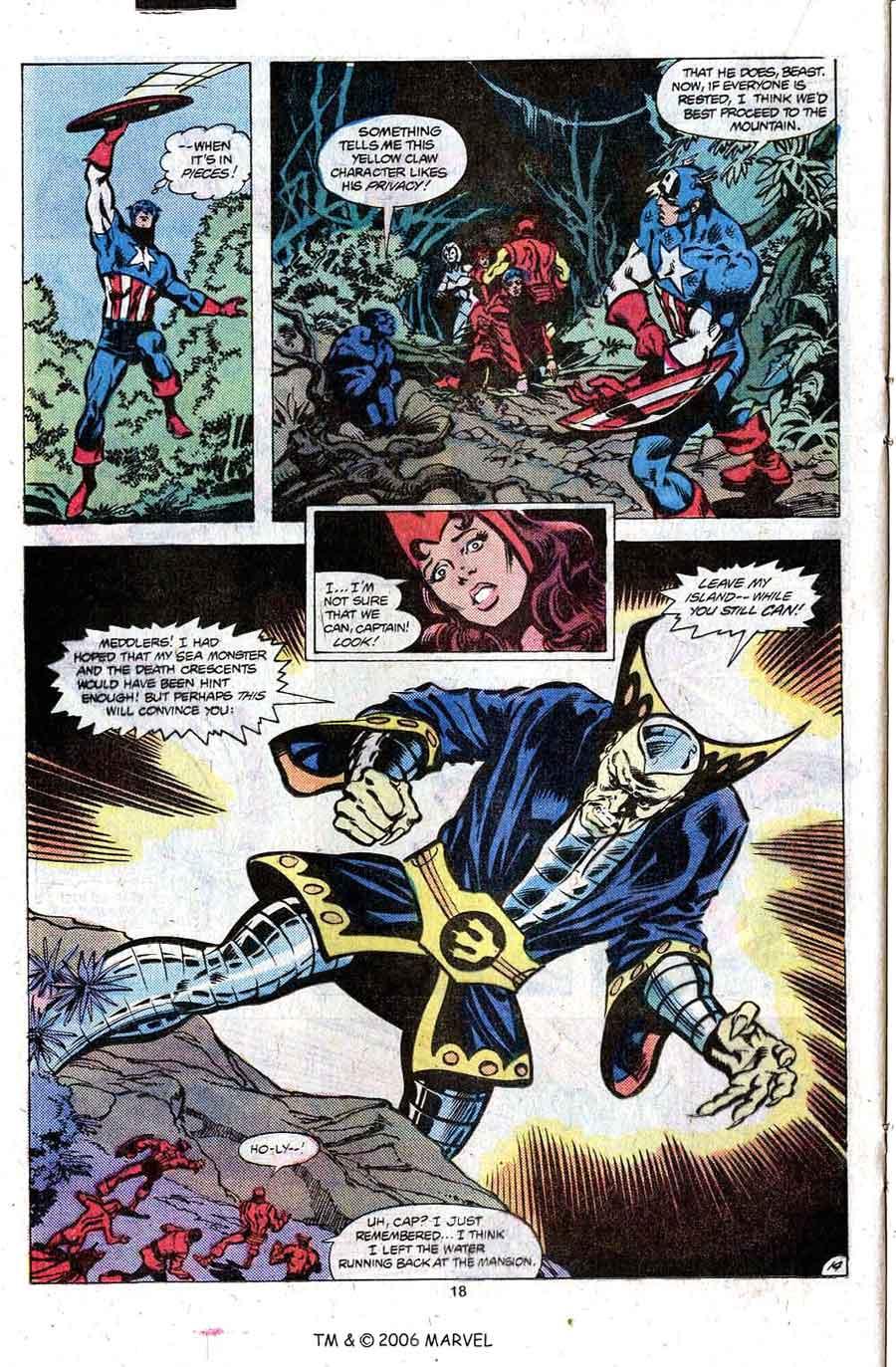 Avengers v1 #204 marvel comic book cover art by Don Newton