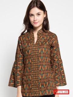 baju batik wanita pria modern terbaru couple 2018