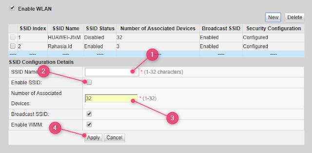 Cara Menambahkan SSID Kedua Pada Modem Huawei HG8245H