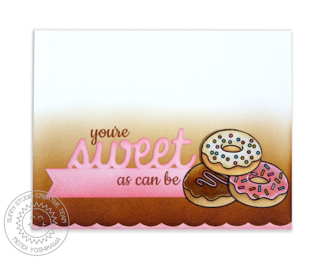 Sunny Studio Stamps: Sweet Shoppe Donuts Card by Mendi Yoshikawa