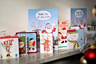 Christmas cards create great festive atmosphere