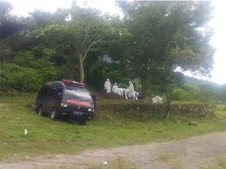pemakaman pasien covid-19 di padang