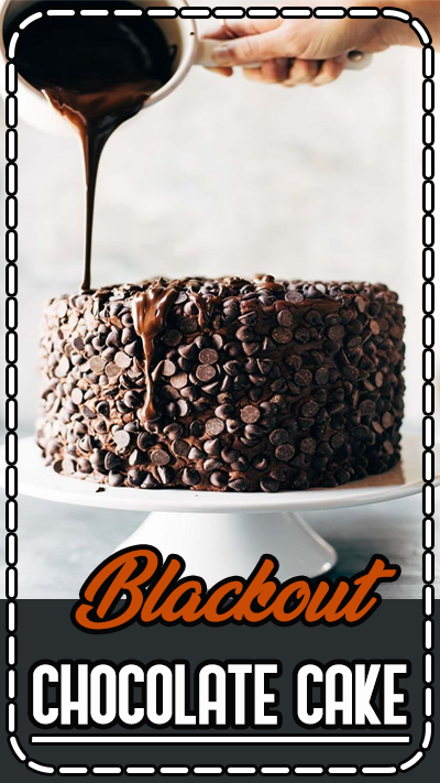 This is the cake for chocolate lovers! Ultramoist chocolate cake, layers of cream cheese chocolate frosting, and an awesome chocolate chip + chocolate drizzle exterior. Recipe based off of this solid Chocolate Blackout Cake from Life Made Simple.