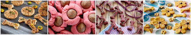 A collage of DIY dog treat decorating ideas for fancy homemade treats