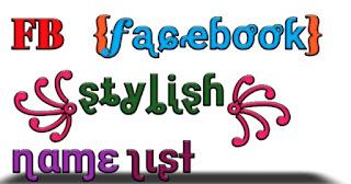 FB stylish name