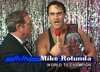 NWA Chi-Town Rumble 1989 - Mike Rotunda is angry about being the TV champion