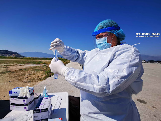 Rapid test σε Ναύπλιο, Τολό και Δρέπανο από την ΚΟΜΥ Αργολίδας και τον Δήμο Ναυπλιέων