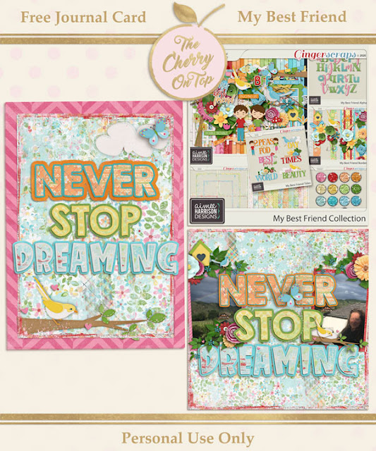 Free Inspriational Journal Card