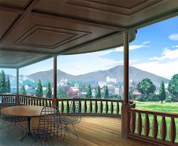 Anime Landscape: Restaurant Anime Background