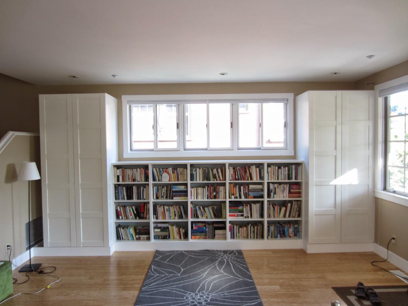Besta Built In Family Room Bookshelf And Tv Unit