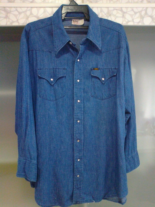 e9462bfe01e Wish You Were Here  Vintage 60s Lee Western Denim Shirt