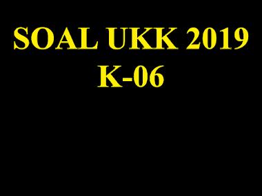 Soal dan Instrument UKK TKJ 2063 K06 - 2019