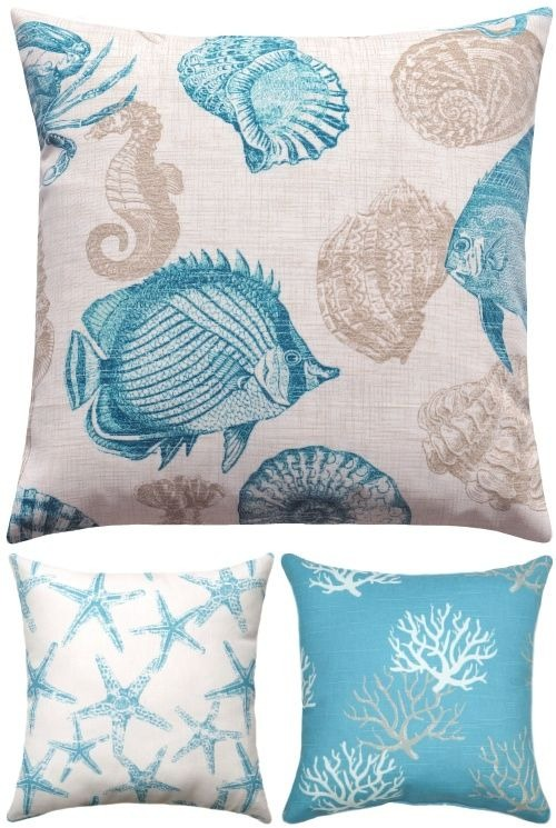 Beach Throw Pillow Cover Ideas