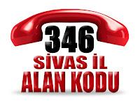 0346 Sivas telefon alan kodu