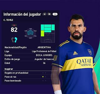 PES 2021 Faces Carlos Tevez by Grdumbanda
