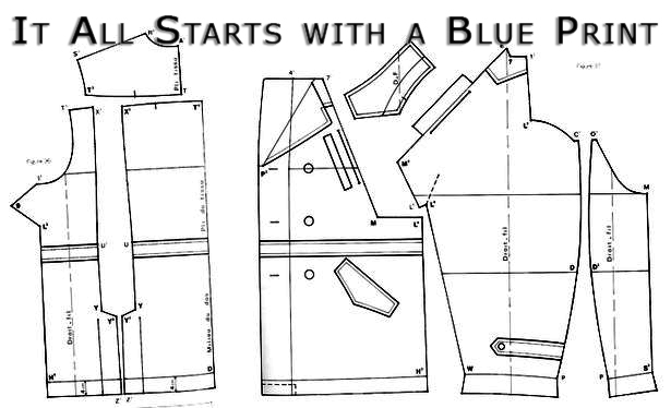 Blue Print before start making clothes