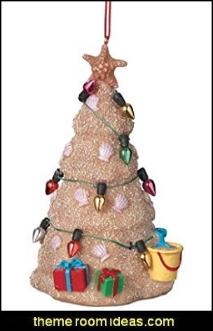 Sand Beach Christmas Tree Hanging Resin Christmas Ornament  Coastal Christmas decorating theme - coastal Christmas decor - beach christmas  - Beach Christmas Decorations  - seaside decor - coastal ornaments - beach themed Christmas decorations - beach themed christmas tree -  sea themed ornaments -  nautical accents - beach themed ornaments - coastal Christmas tree skirts - beach & seaside decorations