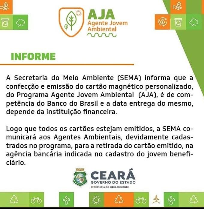 SEMA informa sobre a confecção e emissão do cartão magnético personalizado do programa AJA