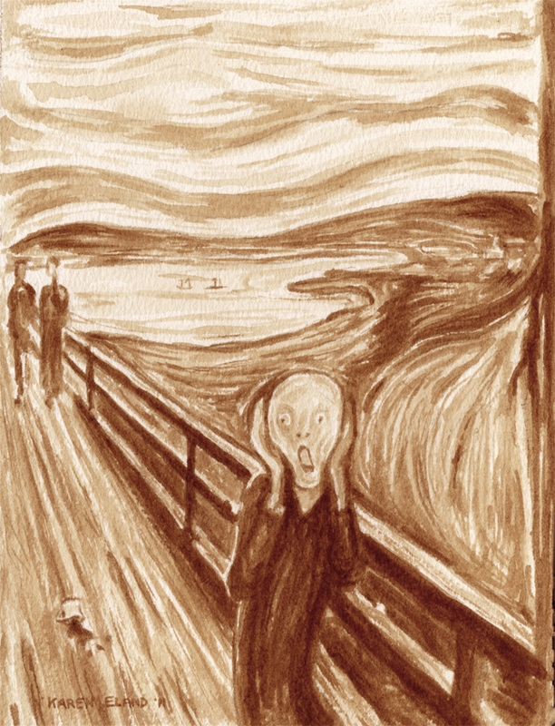 03-Edvard-Munch-The-Scream-Karen-Eland-Coffee-and-Water-Recreate-Famous-Paintings-with-a-Difference-www-designstack-co