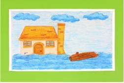 Ilustrasi gambar imajinatif banjir