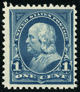 Benjamin Franklin (1895) Triangles 1¢ Blue