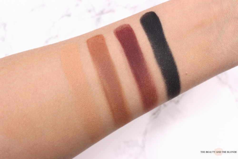 melt cosmetics the dark matter stack swatches review blurr enigma unseen