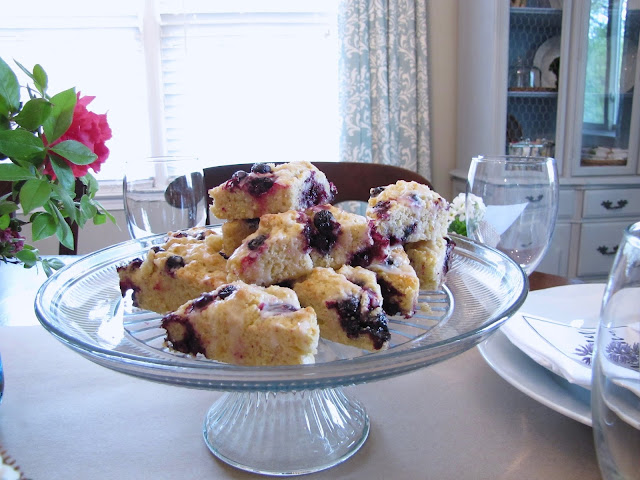easy lemon and blueberry scones