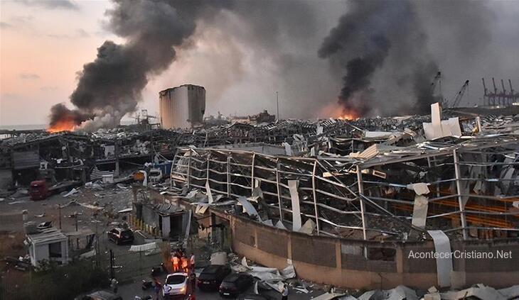 Explosión en puerto de Beirut, Líbano
