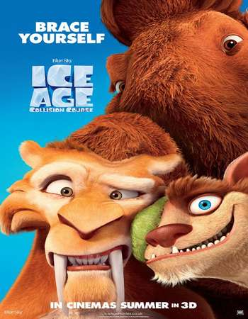 Poster Of Ice Age Collision Course 2016 Hindi Dubbed 300MB Cam 480p Free Download Watch Online Worldfree4u
