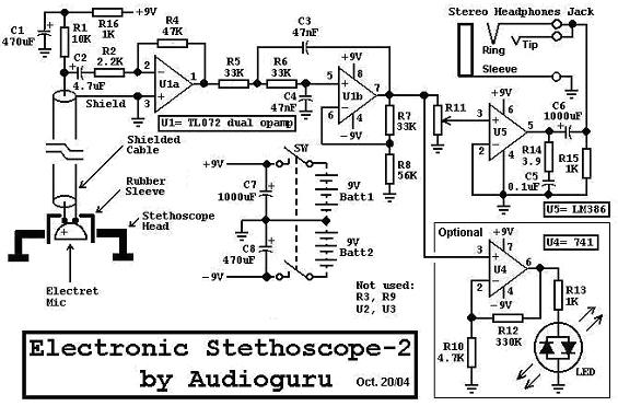 stethoscope1 basiccircuit circuit diagram seekiccom electrical