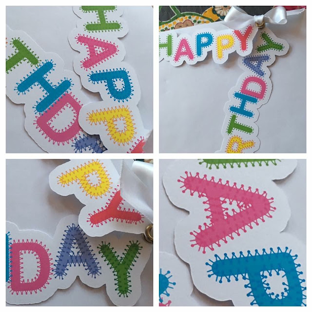 Oversized print and cut gift tags made by Debora Regent using Nadine Muir's Crafter Stitch Font for Silhouette UK Blog