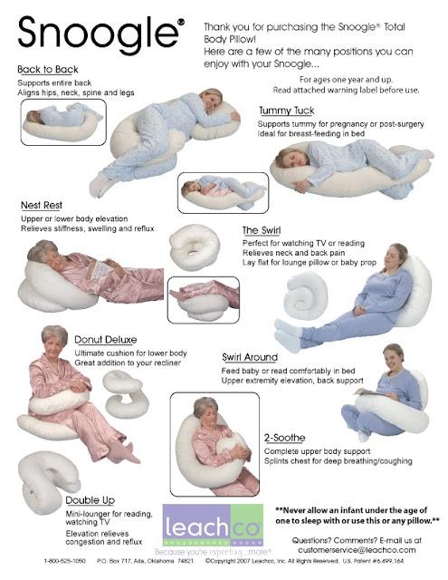 snoogle-孕婦抱枕多用途圖式