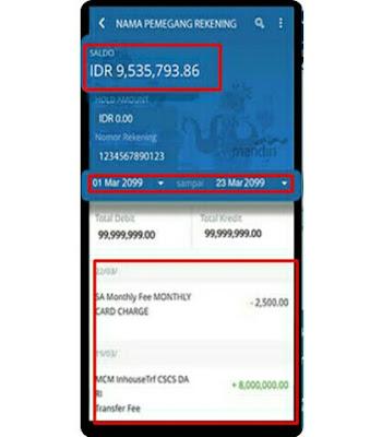 cetak ulang bukti transfer mandiri lewat mobile banking